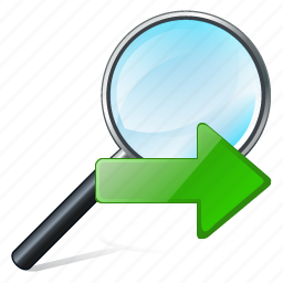 find, magnifier, next, right, search, zoom icon
