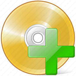 add, cd, compact, disc, disk, dvd, storage icon