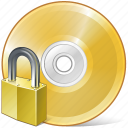 cd, compact, disc, disk, dvd, locked, storage icon