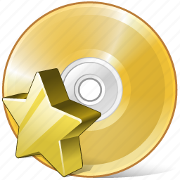 cd, compact, disc, disk, dvd, favorite, storage icon