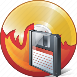 burn, cd, compact, disc, disk, dvd, save icon