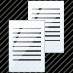 copy, documents, duplicate, files, paste icon