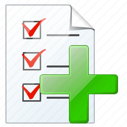 add, check, document, file, list, task, to do icon