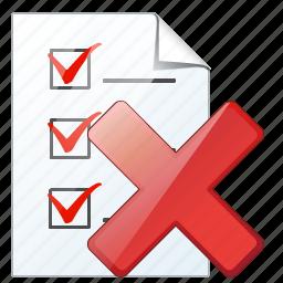 check, delete, document, file, list, task, to do icon