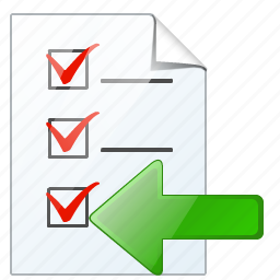 check, document, file, import, list, task, to do icon