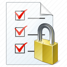 check, document, file, list, locked, task, to do icon