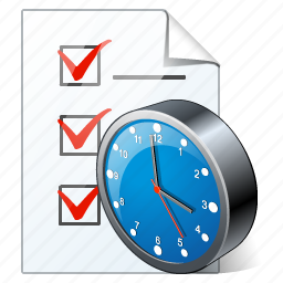 check, clock, document, file, list, task, to do icon