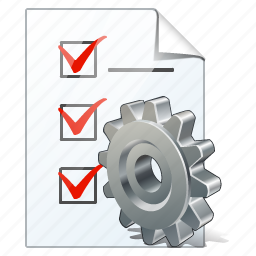 check, document, file, list, settings, task, to do icon