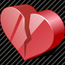 broken, dislike, heart, hurt, like, love icon