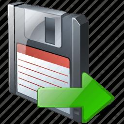 backup, data, disk, download, export, file, floppy, guardar, save icon