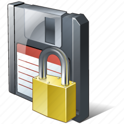 backup, data, disk, download, file, floppy, guardar, locked, save icon