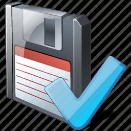 backup, data, disk, download, file, floppy, guardar, ok, save icon