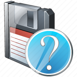 backup, data, disk, download, file, floppy, guardar, question, save icon