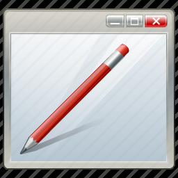 app, application, edit, interface, window icon