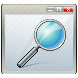 app, application, interface, search, window icon