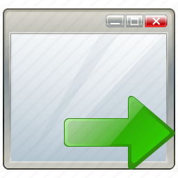 app, application, export, interface, window icon
