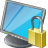 computer, desktop, display, locked, monitor, screen icon