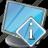 computer, desktop, display, info, monitor, screen icon