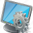 computer, desktop, display, monitor, screen, settings icon