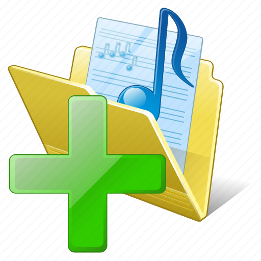 add, audio, folder, media, music, my, songs icon