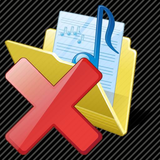 audio, delete, folder, media, music, my, songs icon