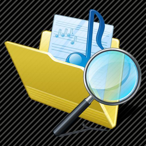 audio, folder, media, music, my, search2, songs icon