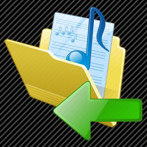 audio, folder, import, media, music, my, songs icon