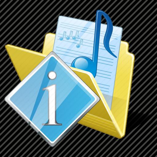 audio, folder, info, media, music, my, songs icon