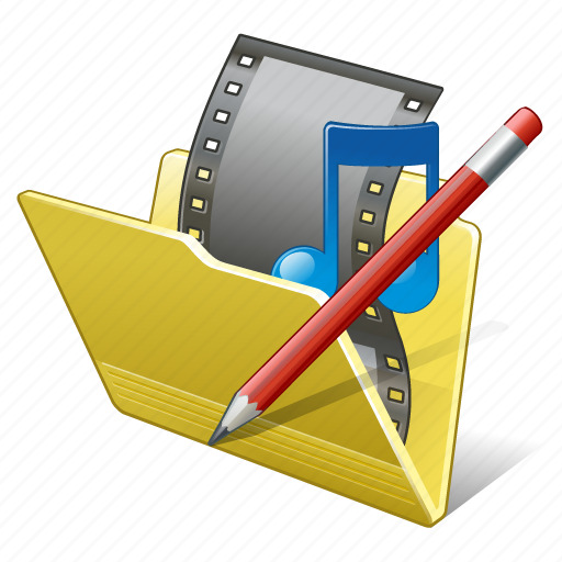edit, film, folder, media, movie, my, video icon