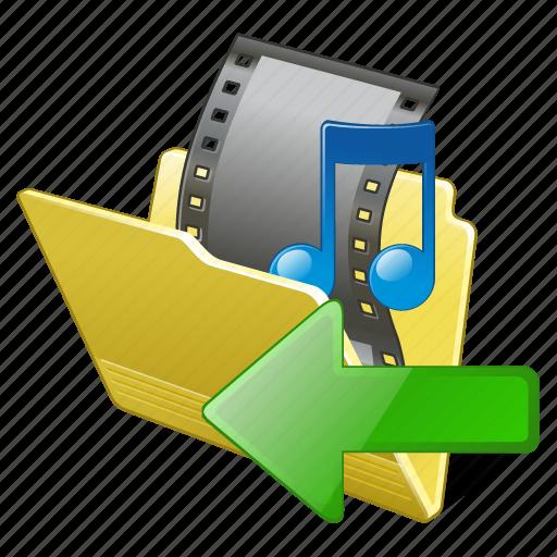 film, folder, import, media, movie, my, video icon