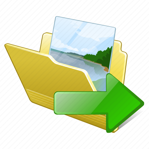 export, folder, gallery, images, media, my, pictures icon