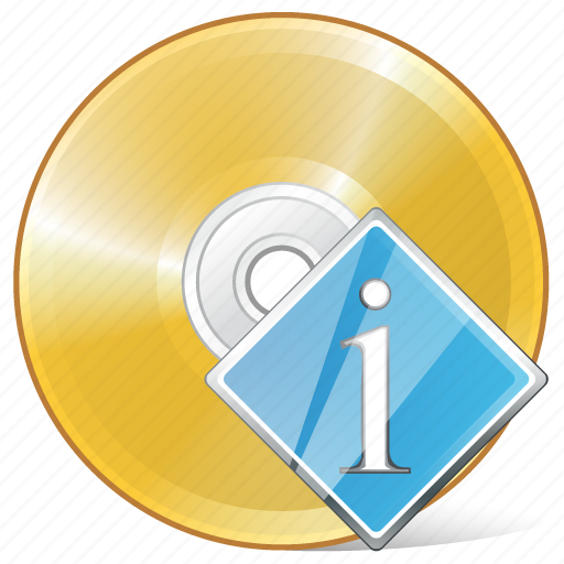 cd, compact, disc, disk, dvd, info, storage icon