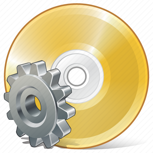 cd, compact, disc, disk, dvd, settings, storage icon
