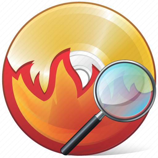 burn, cd, compact, disc, disk, dvd, search icon