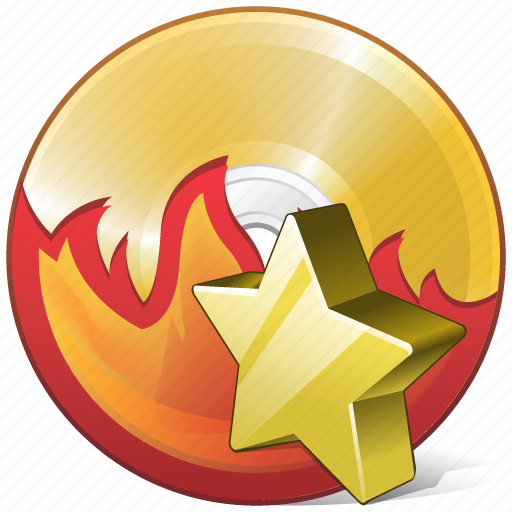 burn, cd, compact, disc, disk, dvd, favorite icon