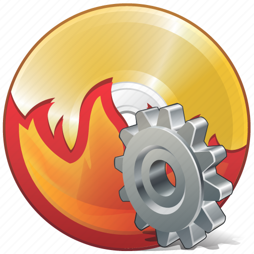 burn, cd, compact, disc, disk, dvd, settings icon