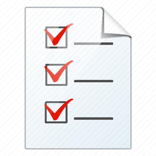 check, document, file, list, task, to do icon