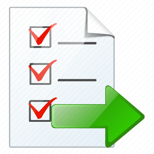check, document, export, file, list, task, to do icon