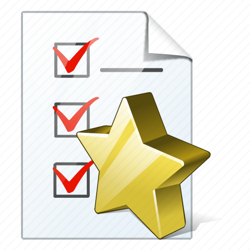 check, document, favorite, file, list, task, to do icon