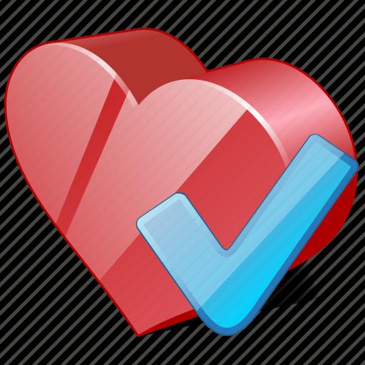 bookmark, favorites, heart, like, love, ok icon