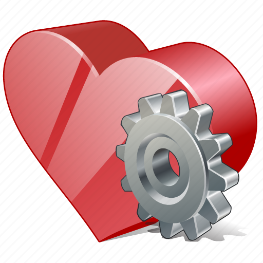 bookmark, favorites, heart, like, love, settings icon