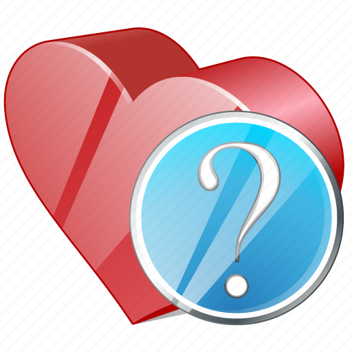 bookmark, favorites, heart, like, love, question icon