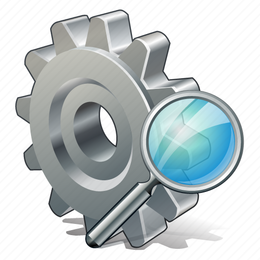 configuration, options, preferences, search, settings icon