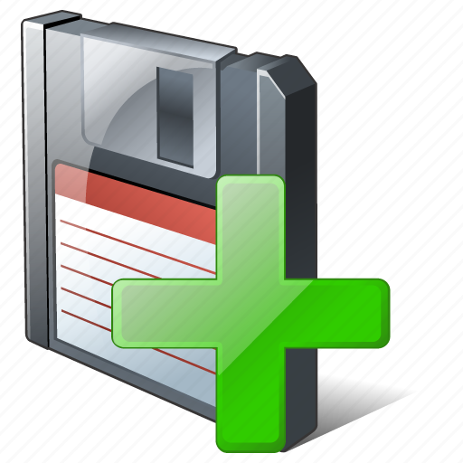 add, backup, data, disk, download, file, floppy, save icon