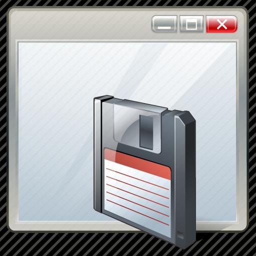 app, application, interface, save, window icon