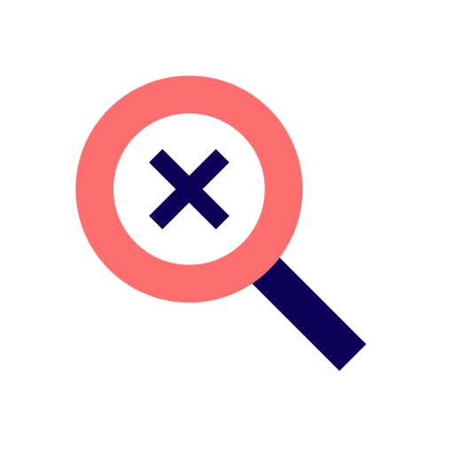 Disabled, lens, search, magnifier, magnifying, magnifying glass, search disabled icon - Free download