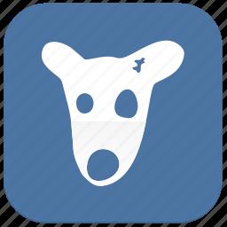 broken, dog, vk, vkontakte icon