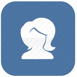 female, girl, login, person, profile, vkontakte icon