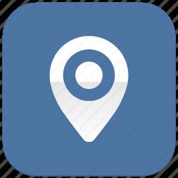 geo, location, pointer, vkontakte icon