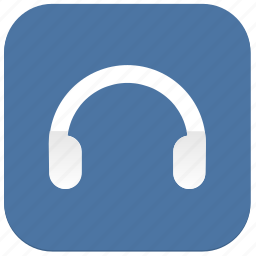 function, headphones, listen, music, vkontakte icon